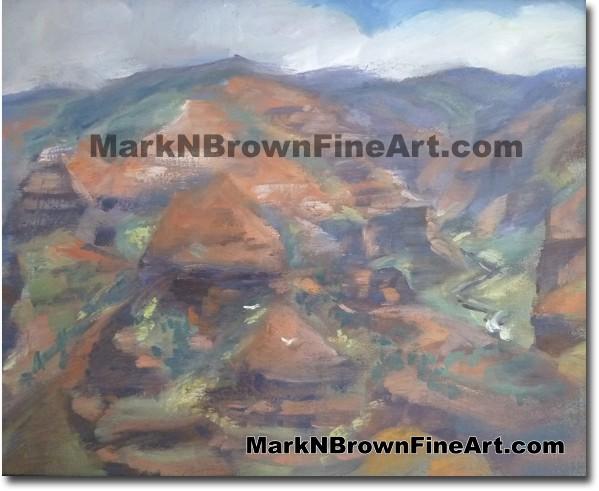 The 2 Birds Of Waimea Canyon, - Hawaii Fine Art by Hawaii Artist Mark N. Br