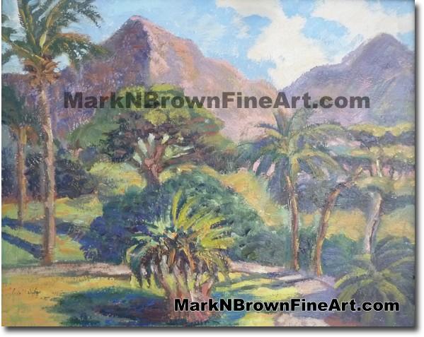 Ulu Pono Heiau - Hawaii Fine Art by Hawaii Artist Mark N. Brown
