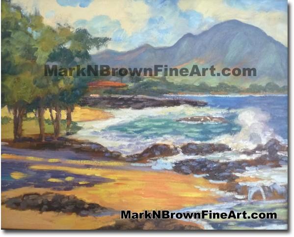Winter Surf At Three Tables, - Hawaii Fine Art by Hawaii Artist Mark N. Bro