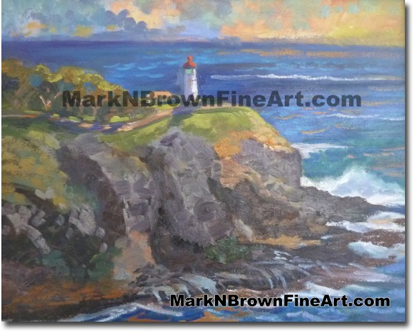 Kilueau Lighthouse - Hawaii Fine Art by Hawaii Artist Mark N. Brown