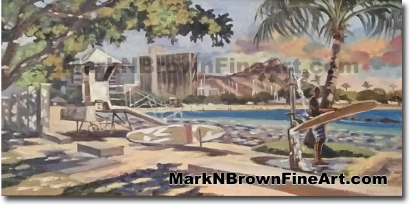Ala Moana - Jan 2016 - Hawaii Fine Art by Hawaii Artist Mark N. Brown