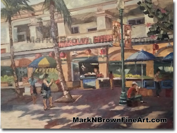 Chinatown - Jan 2016 - Hawaii Fine Art by Hawaii Artist Mark N. Brown