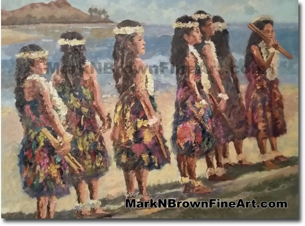 Hula Dancers - Jan 2016 - Hawaii Fine Art by Hawaii Artist Mark N. Brown