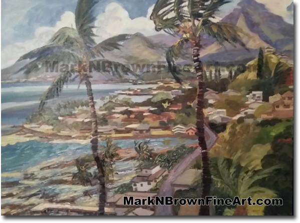 Lilipuna - Jan 2016 - Hawaii Fine Art by Hawaii Artist Mark N. Brown