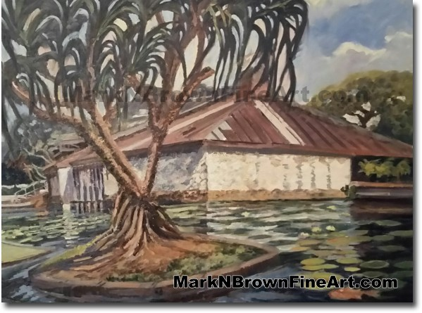 Punahou Chapel - Jan 2016 - Hawaii Fine Art by Hawaii Artist Mark N. Brown