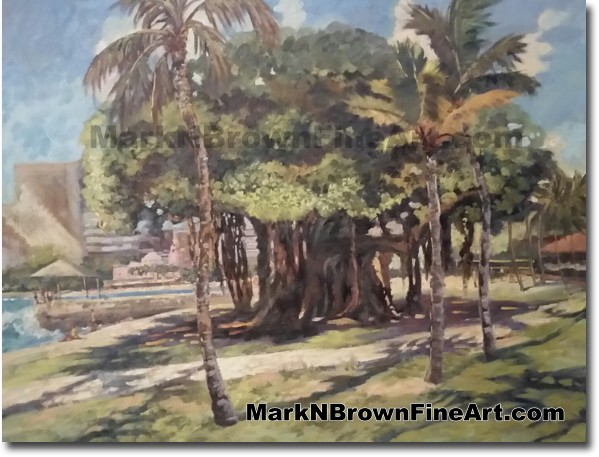 Queens Beach - Jan 2016 - Hawaii Fine Art by Hawaii Artist Mark N. Brown