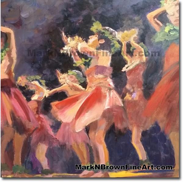 Dancers In Motion - Jan 2016 - Hawaii Fine Art by Hawaii Artist Mark N. Bro