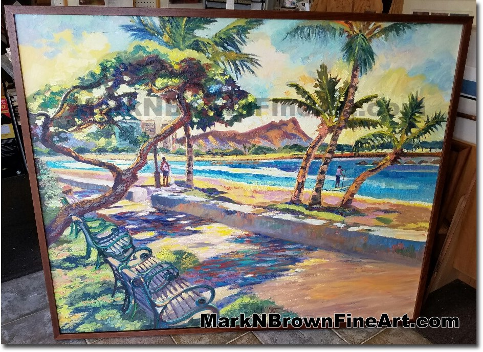 Ala Moana Sunrise 2017 - Hawaii Fine Art by Hawaii Artist Mark N. Brown