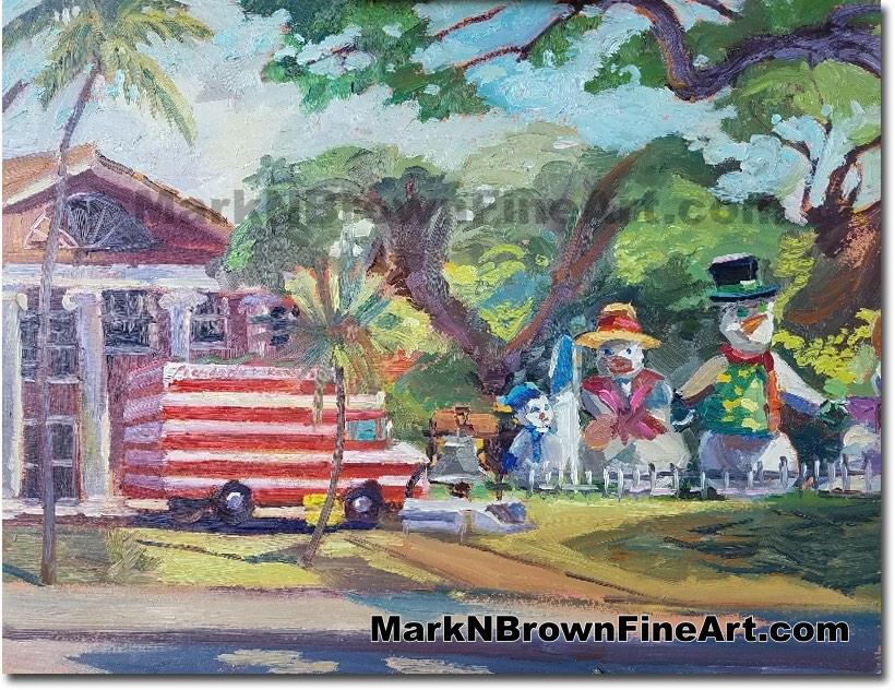Christmas Honolulu Hale 2017 - Hawaii Fine Art by Hawaii Artist Mark N. Bro