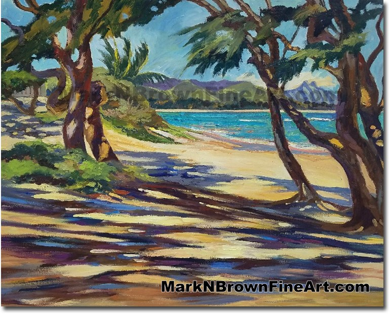 Kalama Beach 2017 - Hawaii Fine Art by Hawaii Artist Mark N. Brown