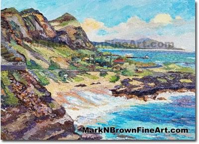 Makapuu Cliffs 2017 - Hawaii Fine Art by Hawaii Artist Mark N. Brown
