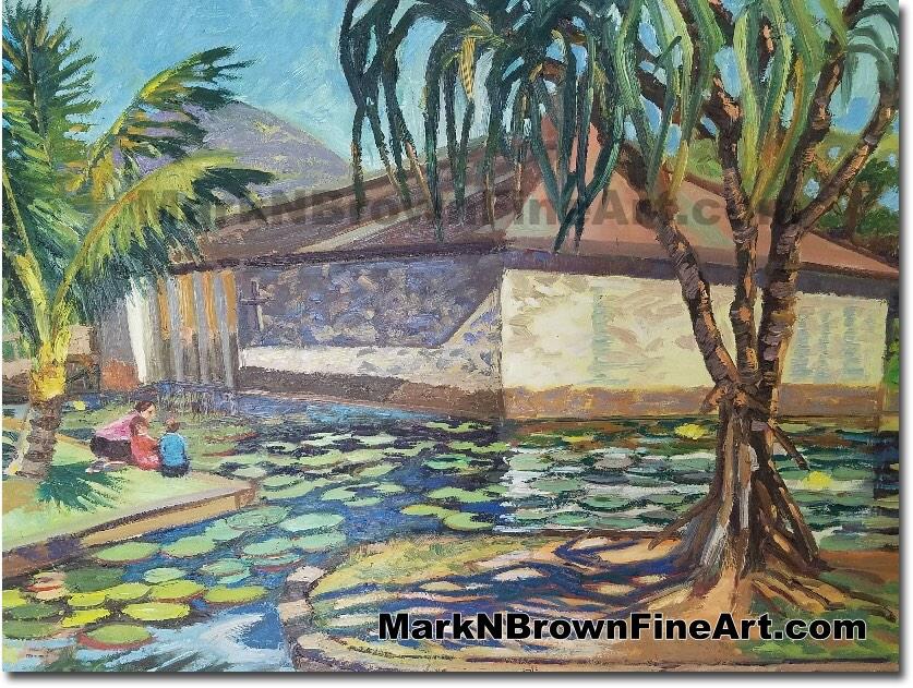 Punahou Chapel 2017 - Hawaii Fine Art by Hawaii Artist Mark N. Brown