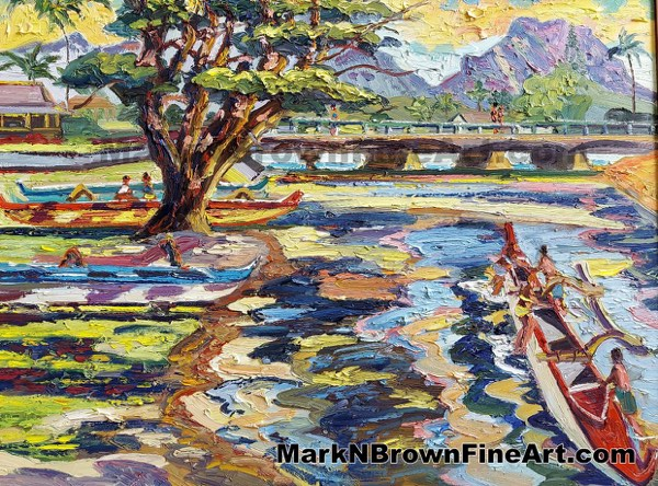 Canoes Of Kailua Hawaii Fine Art By Hawaii Artist Mark N Brown January 2021
