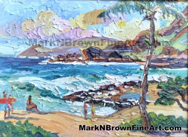 Olapa Sandys Hawaii Fine Art By Hawaii Artist Mark N Brown January 2021
