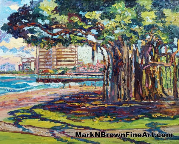 Queens Beach Hawaii Fine Art By Hawaii Artist Mark N Brown January 2021