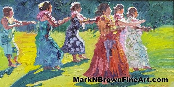 Hula Dancers Hawaii Fine Art By Hawaii Artist Mark N Brown January 2021