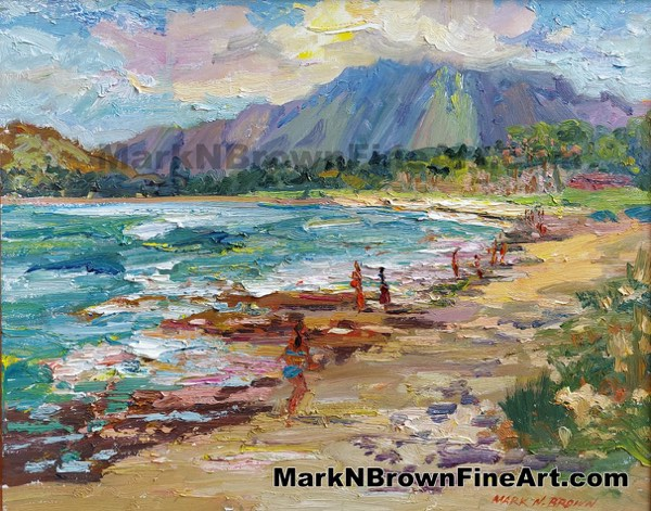 Kalama Beach Hawaii Fine Art By Hawaii Artist Mark N Brown January 2021