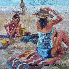 Ohana Of Three - Hawaii Fine Art By Hawaii Artist Mark N Brown