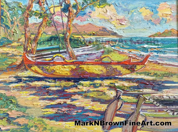 Waimanalo Red, Yellow And Blue - Hawaii Fine Art By Hawaii Artist Mark N Br