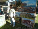 Lanikai Craft Fair Hawaii Artist Mark N Brown Plein Air Fine Art 01