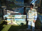 Lanikai Craft Fair Hawaii Artist Mark N Brown Plein Air Fine Art 02