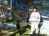 Lanikai Craft Fair Hawaii Artist Mark N Brown Plein Air Fine Art 03