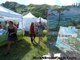 Lanikai Craft Fair Hawaii Artist Mark N Brown Plein Air Fine Art 08