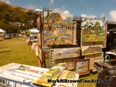 Hawaii artist Mark N. Brown's artworks on display at the Lanikai Craft Fair 2015