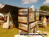 Hawaii Artist Mark N Brown showcased some of his Plein Air paintings at the Lanikai Craft Fair 2015