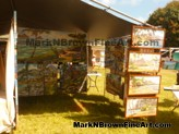 Hawaii Plein Air artist Mark N Brown's booth at the Lanikai Craft Fair 2015