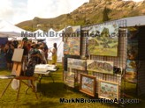 Plein Air artist Mark N Brown showcased some of his lovely Hawaii paintings at the Lanikai Craft Fair 2015