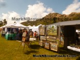 Lanikai Craft Fair 2015 featuring Hawaii Artist Mark N Brown's booth