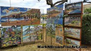 Hawaii Artist Mark N Brown showcasing his paintings at the I Love Kailua Town Party 2015