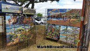 Check out Hawaii Plein Air artist Mark N Brown's booth at the I Love Kailua Town Party 2015