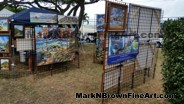 Hawaii Artist Mark N Brown's artworks on display at the I Love Kailua Town Party