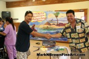 Hawaii Artist Mark N. Brown at the MDA Summer Camp 2015 painting session