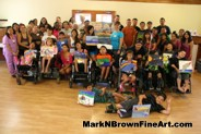MDA Summer Camp young artists show off their work with Hawaii Plein Air Artist Mark N. Brown