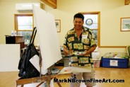 Hawaii Artist Mark N Brown was on hand to support the MDA (Muscular Dystrophy Association) Summer Camp at Camp Erdman